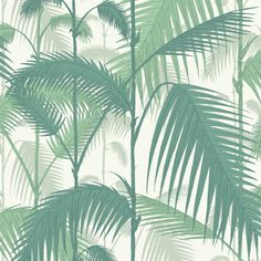 The original Cole & Son Palm Leaves print has been multi layered to create a dense jungle of foliage. Five colour-ways are offered in vibrant hues of emerald green, teal, china blue and subtle met