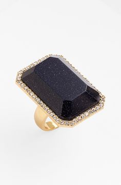 Love this sparkly midnight blue statement ring | Kate Spade.