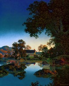 Maxfield Parrish Twilight. I own this print and I love it.