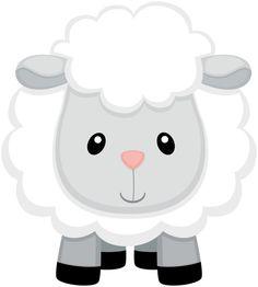 Farm Animal Party, Barnyard Party, Farm Party, Farm Animals, Cute Animals, Baby Sheep, Cute Clipart, Farm Birthday, Farm Theme