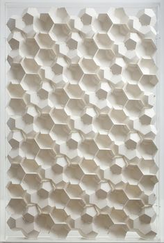 "3D Paper Patterns by Benja Harney | Inspiration Grid | Design Inspiration  Amazing work by self-taught ""paper engineer"" Benja Harney. Benja creates these beautiful patterns without any glue – the pieces are held together using interlocking sheets of paper."