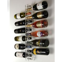 Show details for Acrylic and Stainless Steel Wine Spine 12 Bottle Wall Mounted Wine Rack
