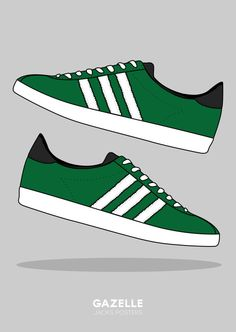 Adidas Gazelle Poster A3 or A4. Adidas. by JacksPosters on Etsy