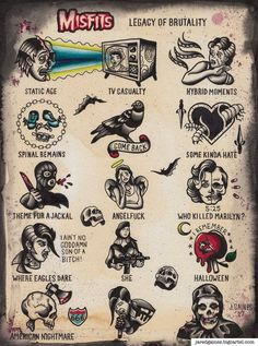 Can I buy this print tonight? This is a high quality print of my artwork inspired by the album, Legacy of Brutality, by Misfits. Punk Tattoo, 1 Tattoo, Tatoo Art, Future Tattoos, New Tattoos, Body Art Tattoos, Sleeve Tattoos, Flash Art Tattoos, Tattoo Flash Sheet