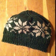 norwegian star knit hat