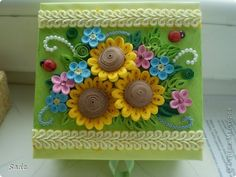 Поделка, изделие Квиллинг: шоколадница + 1 шкатулка Бумага День учителя, Отдых. Фото 5