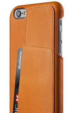 Leather Wallet Case 80° for iPhone 6(s) Plus - Tan - Mujjo