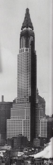 Chrysler Building under construction, NYC