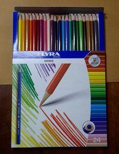 Pencils 24 Lyra Coloured Assorted Osiris Artist Art Drawing