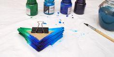 Роспись декоративной наволочки в технике узелкового батика. Треугольники. - Ярмарка Мастеров - ручная работа, handmade