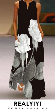 Cheap Maxi Dresses, Casual Dresses, Fashion Dresses, Summer Dresses, Holiday Dresses, Sleeveless Dresses, Floral Dresses, Women's Dresses, Manga Floral