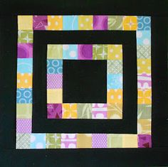 Always wanted to do a black quilt...this one looks easy...charm squares???