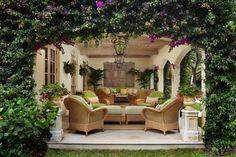 Palm Beach Loggia - tropical - patio - miami - Brantley Photography