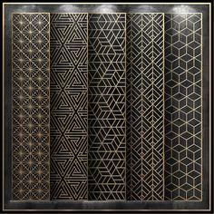 Set of models of decorative partitions. Laser Cut Screens, Laser Cut Panels, 3d Panels, Laser Cut Metal, Window Grill Design, Screen Design, Gate Design, Decorative Metal Screen, Decorative Panels