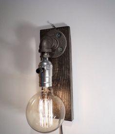 Globe Style Edison Bulb Wall Sconce Lamp By UrbanIndustrialCraft
