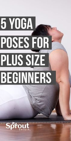 You should not be intimidated by yoga because it's great for people of all shapes & sizes. Here are 5 yoga poses for size beginners you can do right now. Yoga Bewegungen, Fat Yoga, Yoga Flow, Vinyasa Yoga, Beginner Workout At Home, Workout For Beginners, At Home Workouts, Plus Size Yoga, Plus Size Workout