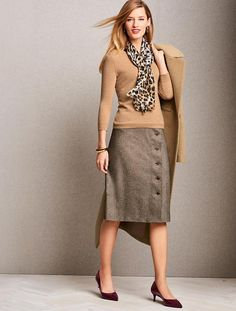 Donegal Tweed A-Line Skirt | Talbots - SB Sep 2017