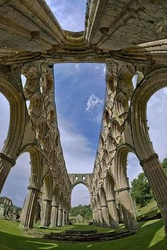Rievaulx Abbey, England. Another example of how the greed of the second Tudor monarch created such a wealth of picturesque lapidary ruin in his kingdom.