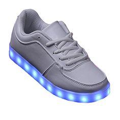 [Present:kleines Handtuch]Schwarz EU 42, Sneakers Couple Top Color JUNGLEST® Men Casual Unisex Sport Women LED-Licht weise Luminous High Charging 7 S