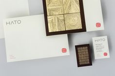 Brand identity, stationery and business cards for fine dining Asian restaurant Hato designed by Allink, Switzerland
