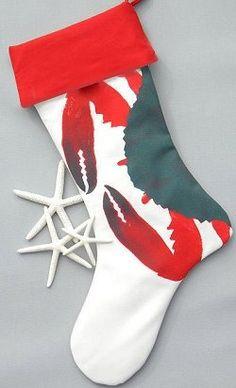New England Crab Christmas Stockings