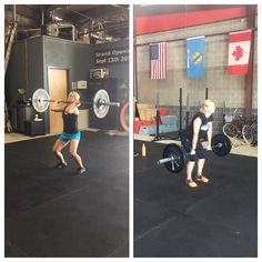 Strong women are inspiring. These women are amazing strong hard working and beautiful! Nice job @boymomof2cuties and @tthommom you girls killed it today! #strongnotskinny #crossfitwomen #crossfit #strongwomen #girlswholift #cflr #cflandrush #weightlifting @crossfit