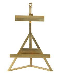 Estelle Display Easel Lamp, Natural Brass