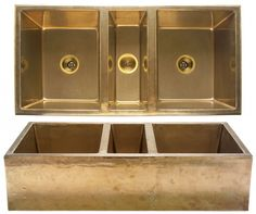 brass kitchen sink  I'm not sure how practical that sink is but I bet it would look stunning and, as it's from Rocky Mountain, it will be great quality.  Triciax