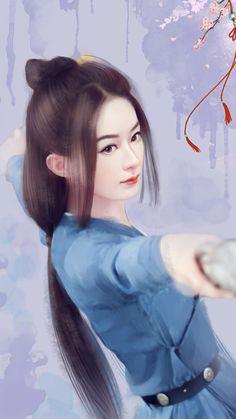 Poster Sở Kiều (Triệu Lệ Dĩnh) – phim Đặc Công Hoàng Phi Sở Kiều Truyện [Zhao Li Ying Wallpaper – Princess Agents] – Thương Tâm Hoa Biện
