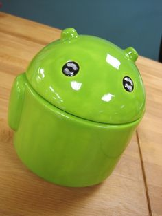 Large Android Ceramic Jar. $22.00, via Etsy.