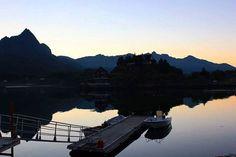 #night in #lofotenislands  #home #fishing #boats #mountains #visitnorway #northofnorway #norway #lofoten #pease #islands  #silence #mittbilde #myphoto #youhavetogothere #seeingisbelieving ❤
