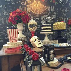 What an incredible Hollywood movies birthday party! See more party ideas at CatchMyParty.com!