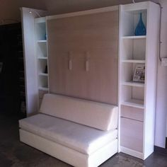 Murphy Bed Built In Couch.Simple Murphy Bed Couch Ideas Suited For Small Interior. Murphy Bed Sofa Custom Sofa Murphy Beds By FlyingBeds . Home Design Ideas Furniture, Bed Design, Built In Couch, Laundry Room Storage, Space Saving Beds, Bed Unit, Decorate Your Room, Murphy Bed Sofa, Cozy Sofa