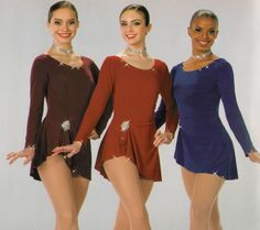 LEADING LADIES Ice Skating Dress Dance Costume WINE,RED or BLUE Color/Size NEW #ArtStone