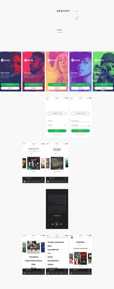 spotify app concept on Behance
