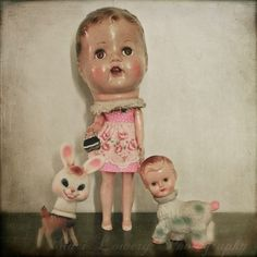 doll head and friends