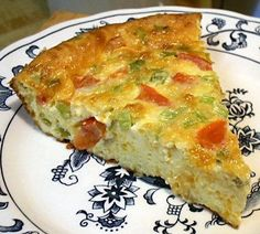 QUESADILLA QUICHE 8 ounces cheddar cheese, shredded 4 ounce can chopped green chiles 1 medium Roma tomato, seeded and diced, about 4 ounces 5 green onions, chopped 6 eggs cup heavy cream teaspoon salt Low Carb Menus, Low Carb Recipes, Cooking Recipes, Skillet Recipes, Cooking Tools, Clean Recipes, Diet Recipes, Healthy Recipes, Quesadilla