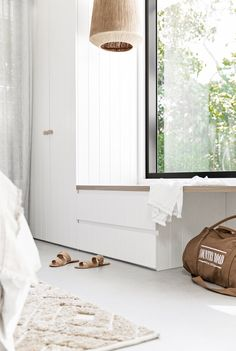 Noa By the Beach Noosa Coastal Bedrooms, Coastal Homes, Dream Home Design, House Design, Built In Seating, Decoration, Joinery, Interior Design, Interior Ideas