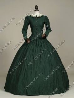 Victorian Civil War Dress Gown Gold Rush Reenactment Witch Halloween Costume