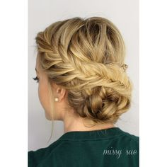15 Gorgeous Prom Hairstyles Moms Can Do at Home ❤ liked on Polyvore featuring hair, hairstyles and braids