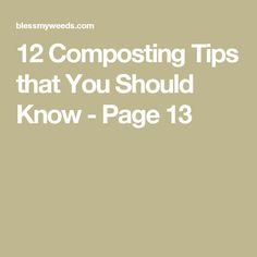 12 Composting Tips that You Should Know - Page 13