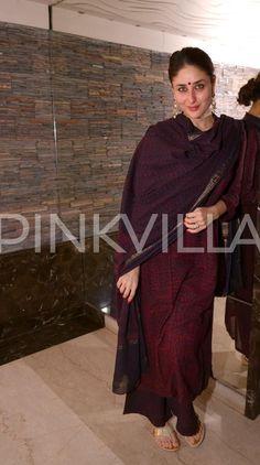 Saif and Kareena pamper little sis Soha on her Mehendi day Casual Indian Fashion, Indian Fashion Dresses, Dress Indian Style, Indian Designer Outfits, Indian Outfits, Simple Kurti Designs, Stylish Dress Designs, Kurta Designs Women, Indian Attire