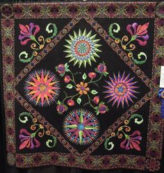 Magical Midnight Garden by Judith Ritner and Designing Women members, quilted by Cindy Phare