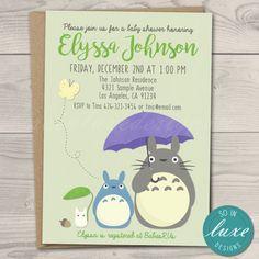 FREE Printable My Neighbor Totoro Birthday Invitation birthday