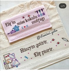 Havlu Cross Stitch Alphabet, Elsa, Dish Towels, Cross Stitch, Towels, Punto De Cruz, Dots, Cooking, Amigurumi