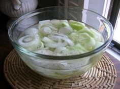CUCUMBERS IN VINEGAR & CREAMED CUCUMBERS