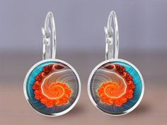 Earrings   12mm Jewelry  Abstract 6  Choice by MaDGreenCreations, $8.95