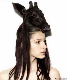 Animals look hairstyles- Giraffe