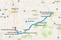 Explore waterfalls, natural wonders and creepy abandoned places when you take one of these amazing road trips. Rv Travel, New York Travel, Places To Travel, Road Trip Map, Road Maps, Awesome America, Missouri Camping, Cape Girardeau, Jefferson City