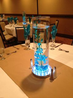 Blue Orchid Wedding Centerpeices
